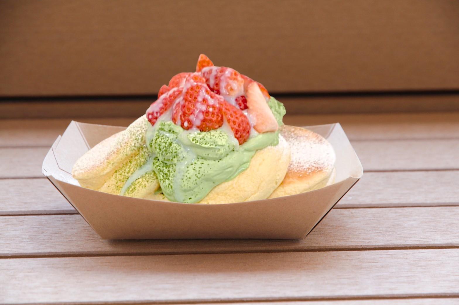 日本士多啤梨宇治抹茶煉奶班戟